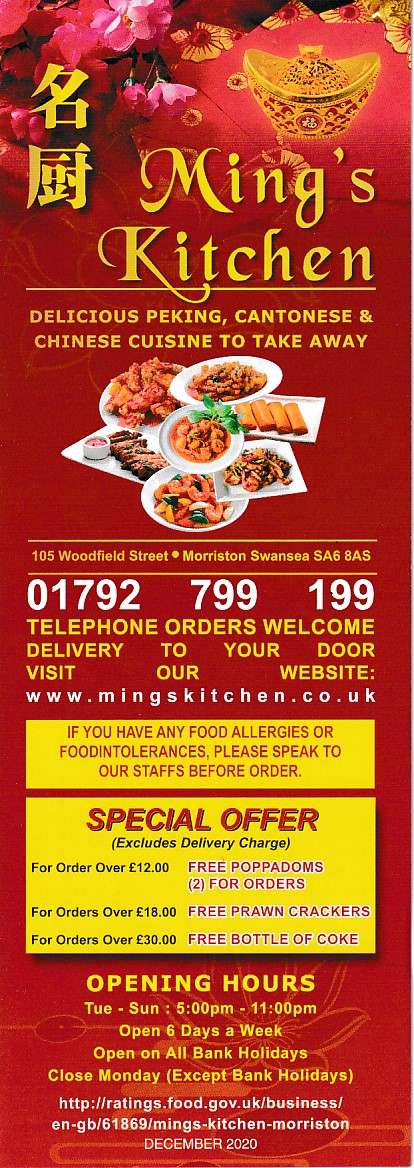 mings kitchen chinese takeaway swansea